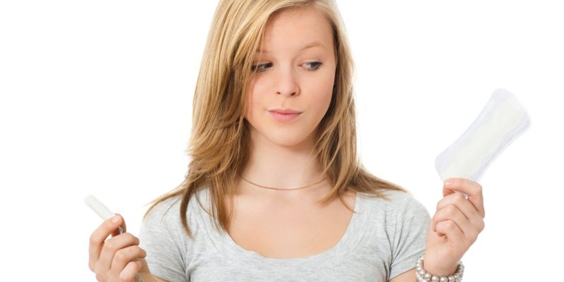 Какие прокладки лучше использовать при месячных для подростков?